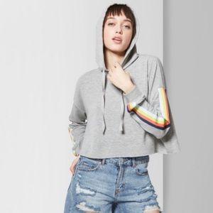 Wild fable gray hoodie crop top